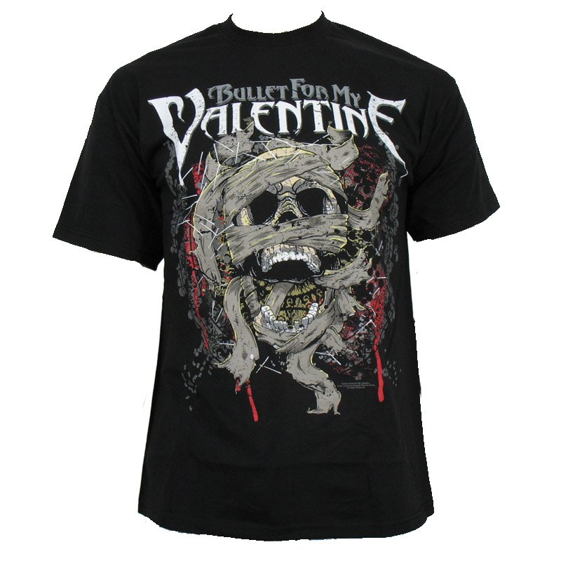Mens Band T Shirt Bullet For My Valentine Death Wrap 19