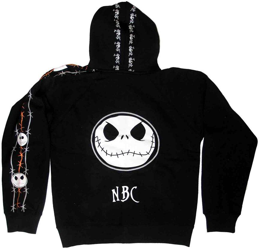 Nightmare Before Christmas Hooded Jacket Jack Large barbed wire