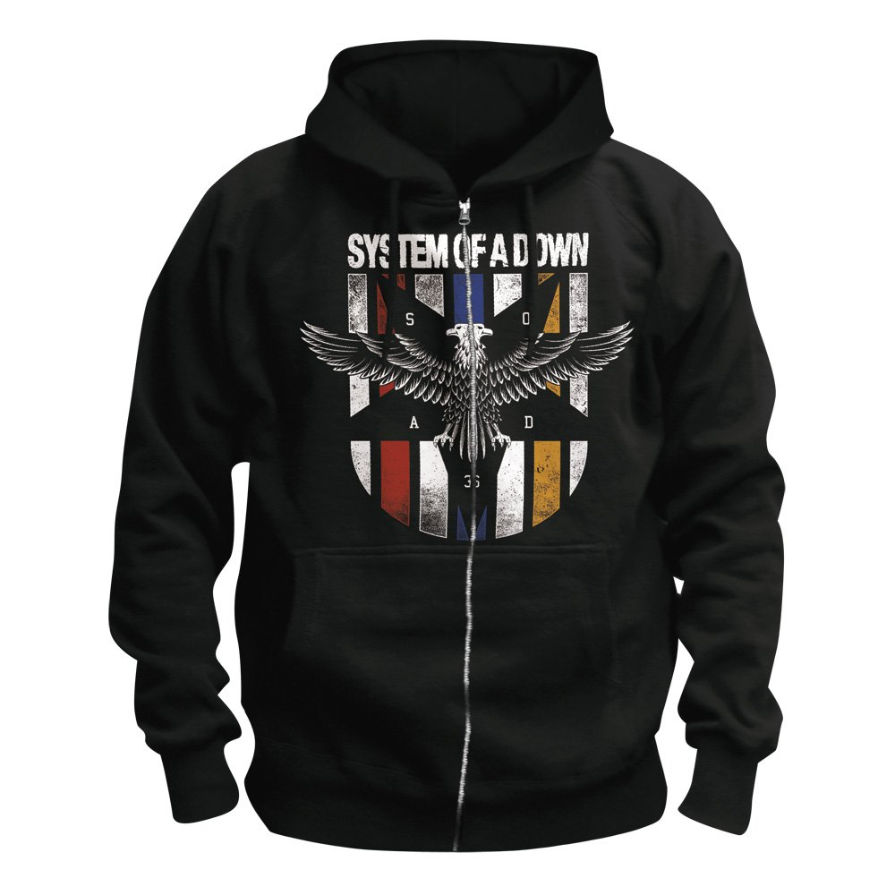 System of a down zip hoodie eagle colors 49 90