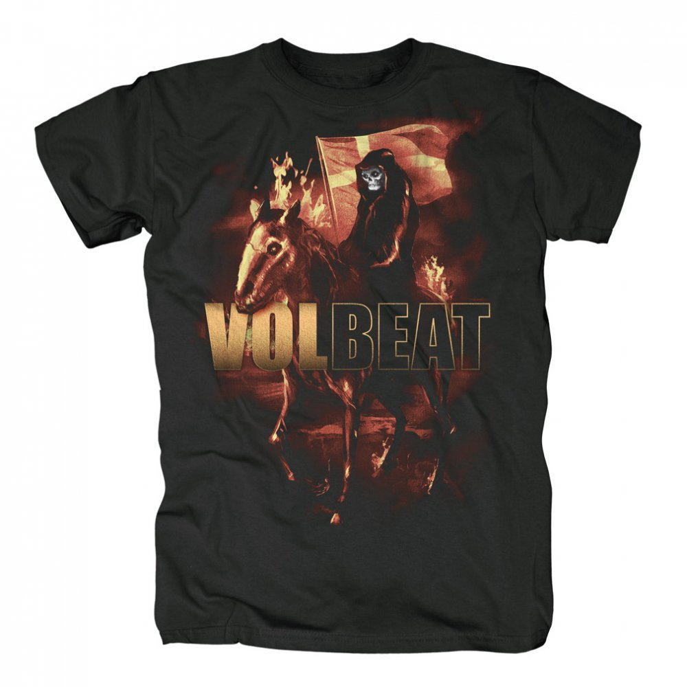 volbeat t shirt ride on fire 19 90. Black Bedroom Furniture Sets. Home Design Ideas