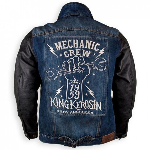 king kerosin denim leder kevlar biker jacke speedrebel. Black Bedroom Furniture Sets. Home Design Ideas