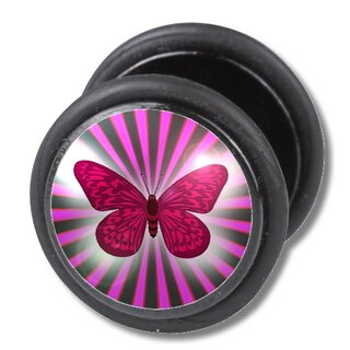 Fake Plug -  Schmetterling Motiv