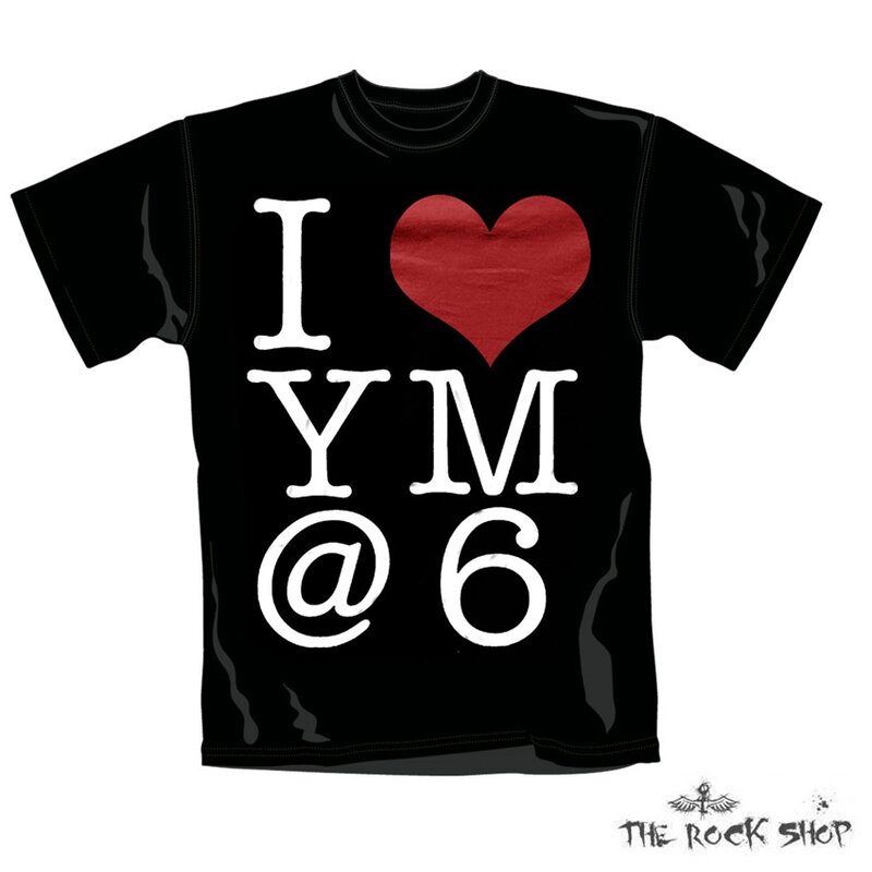 Mens Band T-Shirt You me at six - I Heart YM@6 S