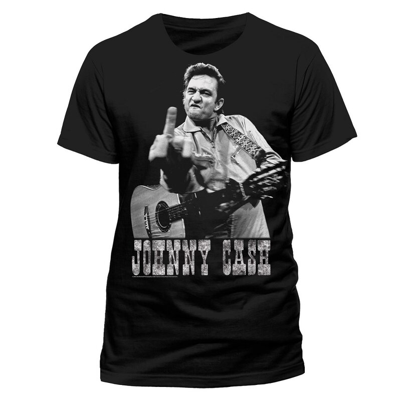 Johnny Cash Band T-Shirt - Finger Salutes S