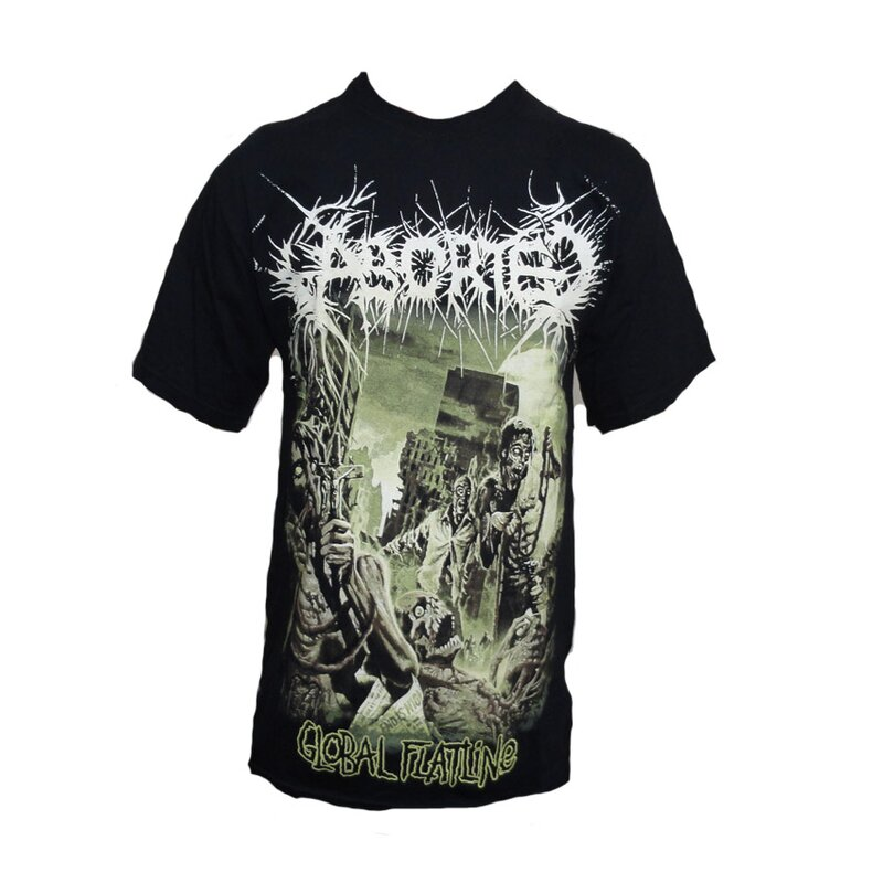 Aborted Band T-Shirt- Global Flatline M