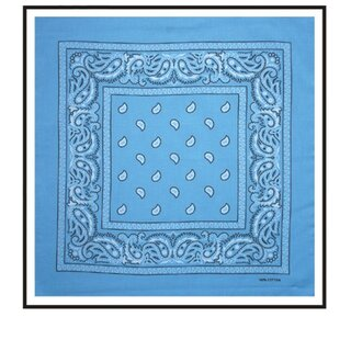Bandana - Paisley Light Blue