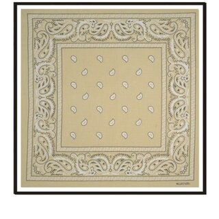 Bandana - Paisley light brown
