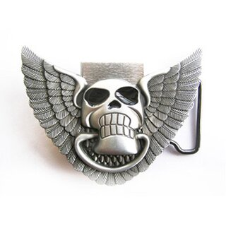 Belt Buckle - Eagle Skull with Lighter