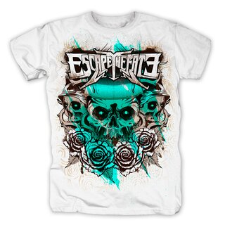 Escape the Fate T-Shirt- Skull of Roses XL