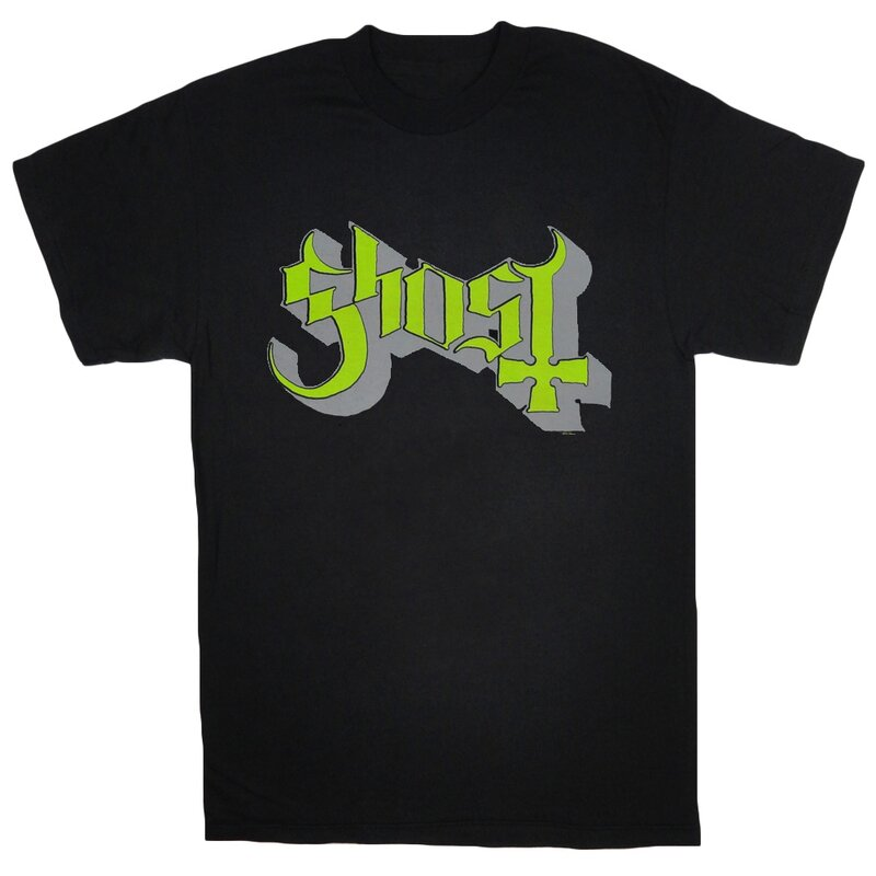 Ghost T-Shirt- Green Keyline Logo XL