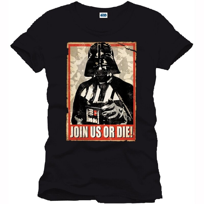 Star Wars T-Shirt - Join us or die S