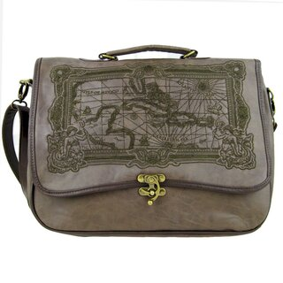 Restyle Handtasche - Carribean Pirate Map Braun