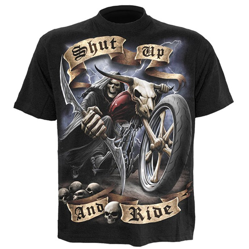 Spiral Mens T-Shirt - Shut up and ride S