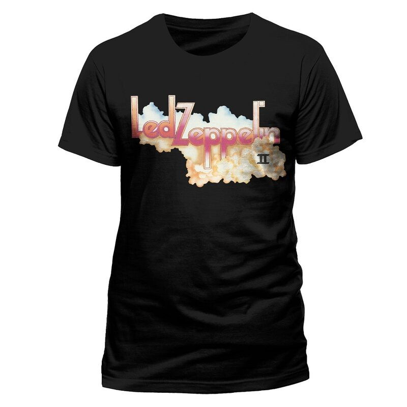 Led Zeppelin T-Shirt - Logo and Cloud S