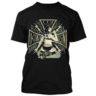 King Kerosin T-Shirt - Born to Ride Schwarz