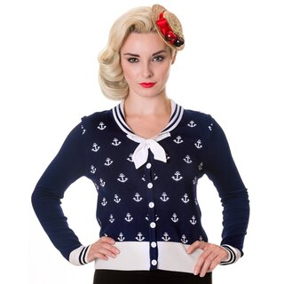 Banned Cardigan - Anchors Away Blue