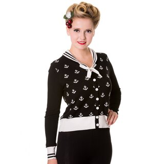 Banned Cardigan - Anchors Away Schwarz L