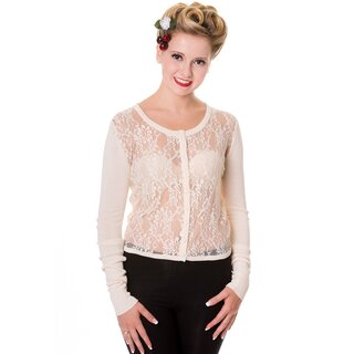 Banned Cardigan - Goth Lace Beige