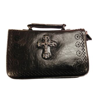 Banned Handbag - Gothic Cross