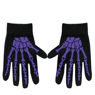 Gloves - Bones Purple