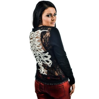 Too Fast Cardigan - Embroidered Ribcage