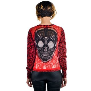 Too Fast Cardigan - Embroidered Skull
