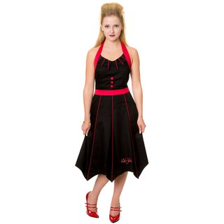 Banned Neckholder Dress - Bat Red