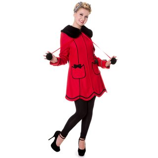 Banned Coat - Bows Coat Red