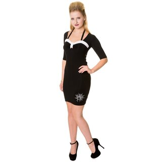 Banned Mini Kleid - Black Spiders S