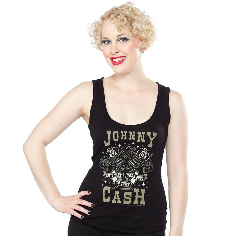 04dffdc1 Johnny Cash Tank Top - Don't Take Your Guns To Town, € 39,90