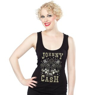 Johnny Cash Tank Top - Dont Take Your Guns To Town