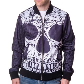 Banned Reversible Jacket - Reverse Ribcage and Skull