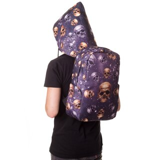 Banned Backpack with Hood - Skulls and Stars
