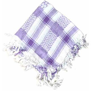 PLO / Keffiyeh Scarf - Purple and White