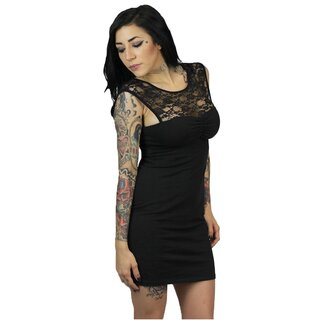 Sullen Angels Mini Kleid - Lace Little Black Dress S
