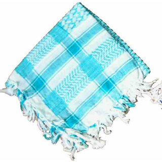 PLO / Keffiyeh Scarf - Turqoise and White