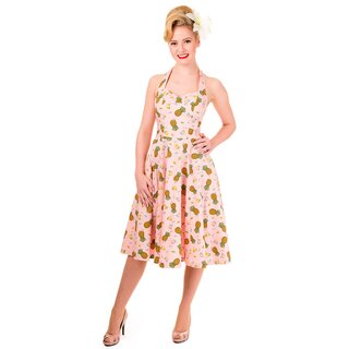 Banned Neckholder Kleid - Pineapple Dreams Rosa