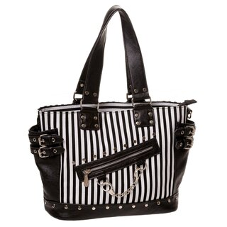 Banned Handbag - Handcuffs Black White