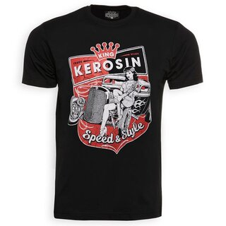 King Kerosin T-Shirt - Speed & Style Schwarz