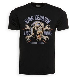 King Kerosin T-Shirt - Grease Monkey Schwarz