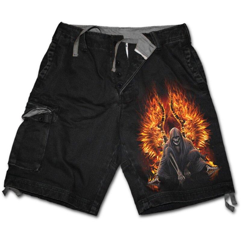 spiral herren kurze hose flaming death shorts 59 90. Black Bedroom Furniture Sets. Home Design Ideas