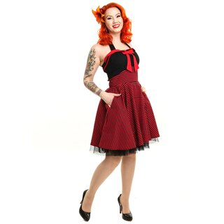 Rockabella Neckholder Kleid - Marina Dress Rot