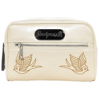 Sourpuss Make-Up Bag - Betsy Sparrow Champagne