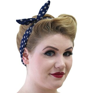 Banned Headband - Polka Dot Tiffany Black