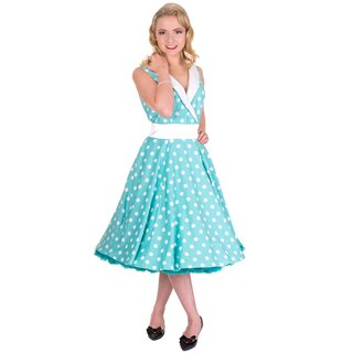Banned Ärmelloses Kleid - Good Times Polka Dot Mint L