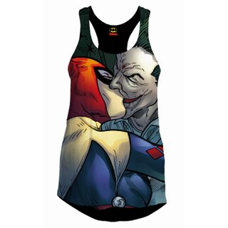 Batman Girlie Tank Top - Harley and The Joker Kiss