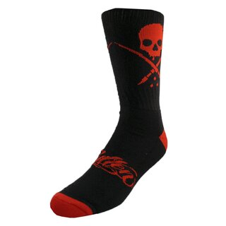 Sullen Art Collective Socks - Standard Crew Socks Black-Red