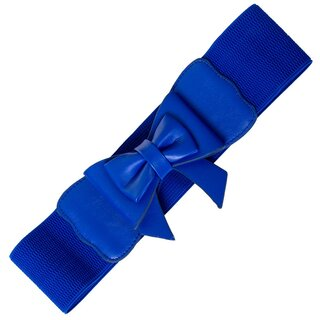 Banned Stretch Belt - Play It Right Blue