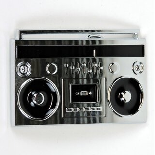 Belt Buckle - Boom Box Silver