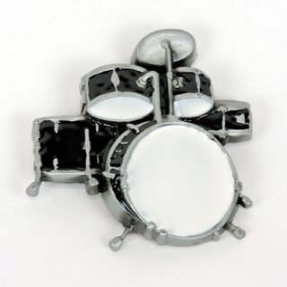 Belt Buckle - Drums Black